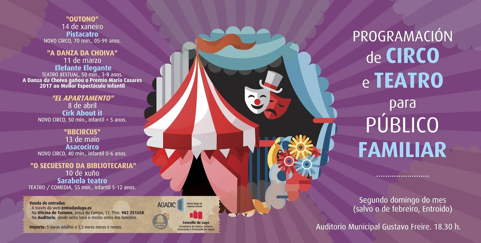 Programación de Circo e Teatro para Público Familiar