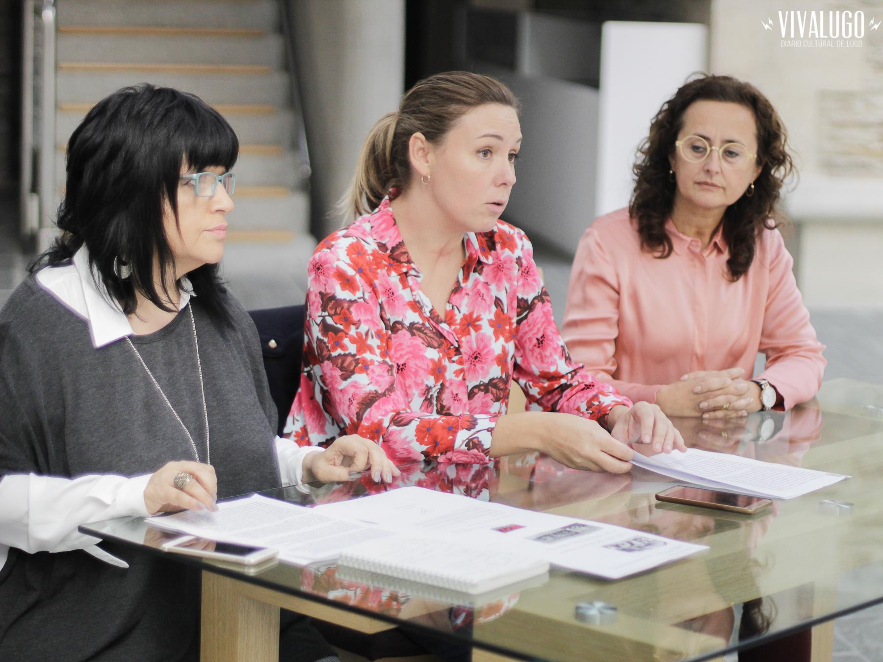 Responsables da Rede Museísitica Provincial de Lugo en rolda de prensa