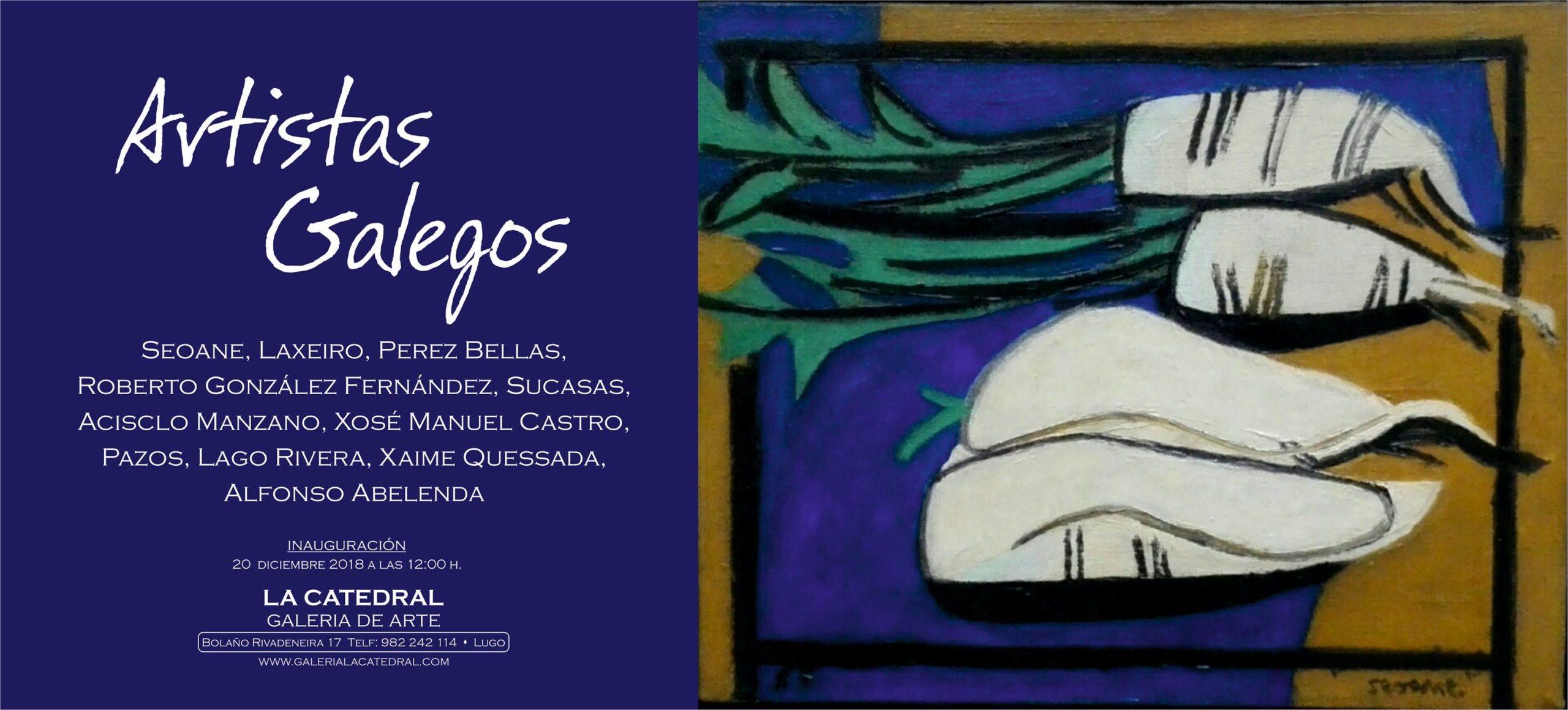 Artistas galegos na Galería La Catedral de Lugo. Exposición.