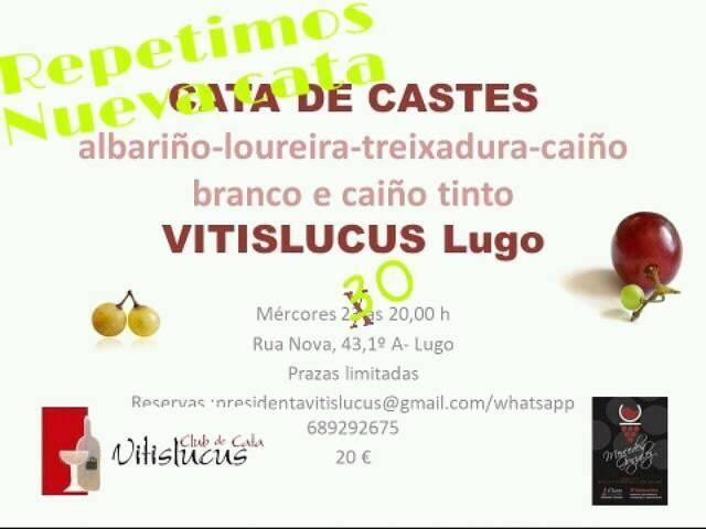 Nueva catade Castes Autóctonas en el local social de Vitislucus- Expertos en Análisis Sensorial y Enoturismo (Rúa Nova ,43-1º A).