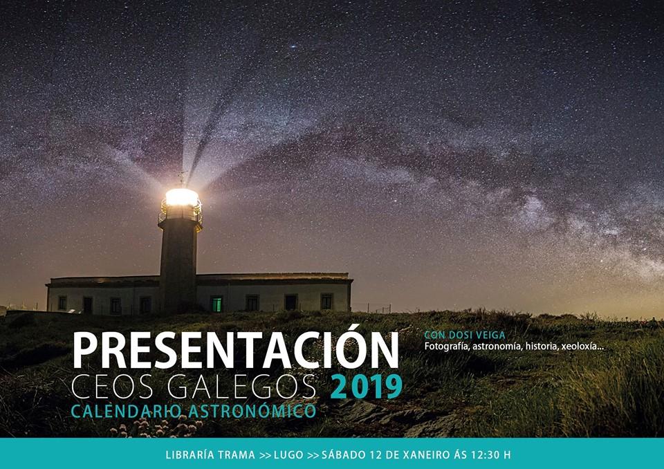 """Presentación do calendario astronómico """"Ceos Galegos 2019"""""""