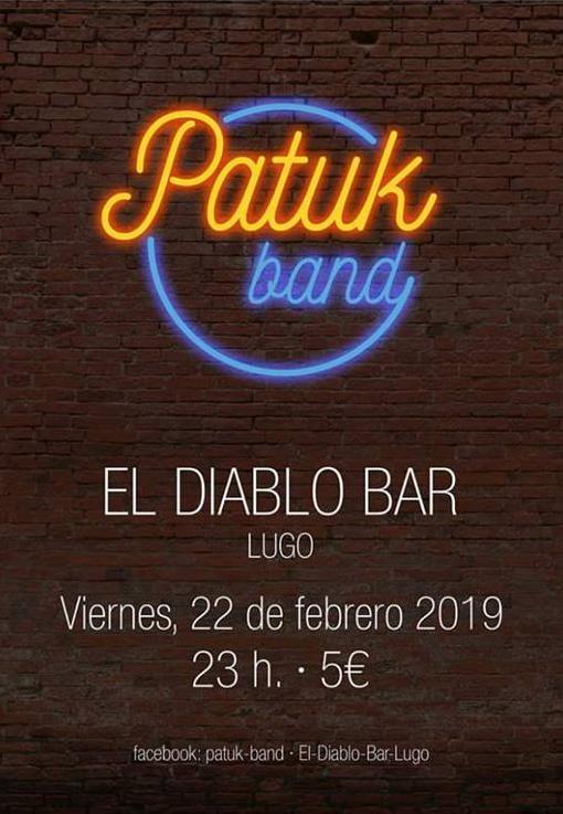 Patuk Band en concierto en El Diablo Bar de Lugo