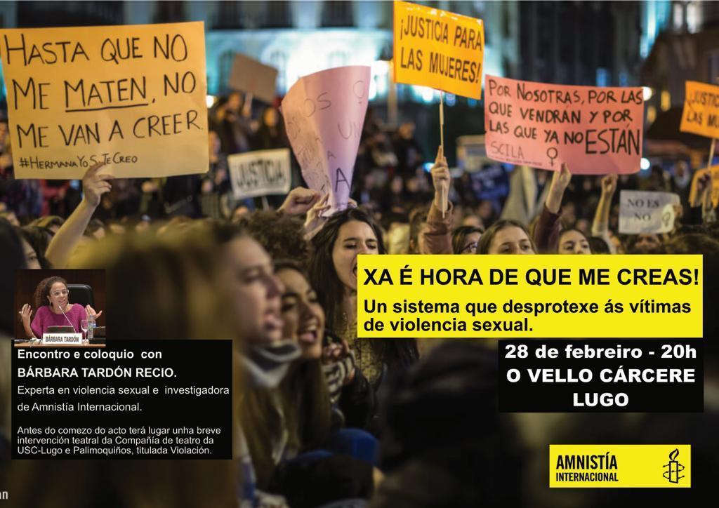 Coloquio: un sistema que desprotexe ás vítimas de violencia sexual