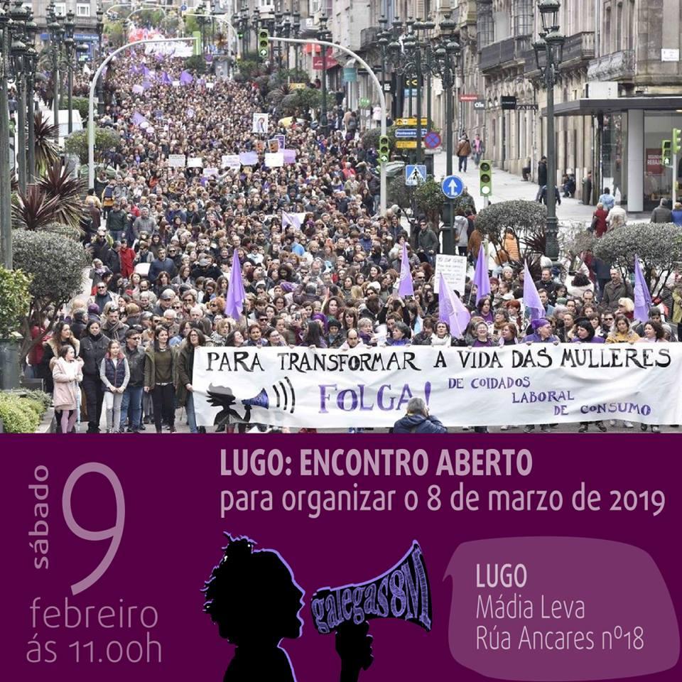 Encontro feminista en Lugo para preparar a #FolgaFeminista.