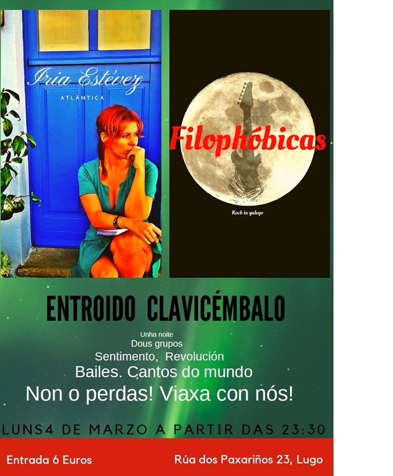 Concertos de entroido no Clavi: Iria Estévez e Filophóbicas