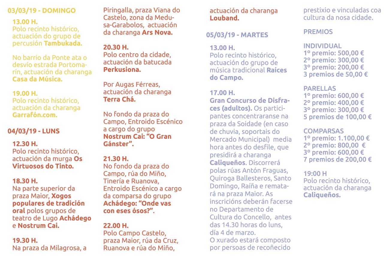entroido Lugo 2019
