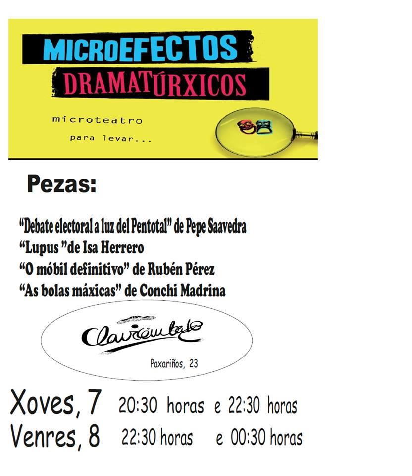 Microefectos Dramatúrxicos no Club Clavicémbalo de Lugo