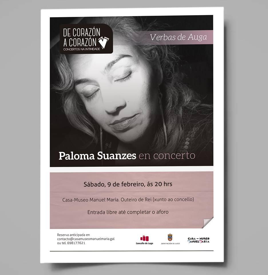 Paloma Suanzes en Concerto na Casa de Manuel María.