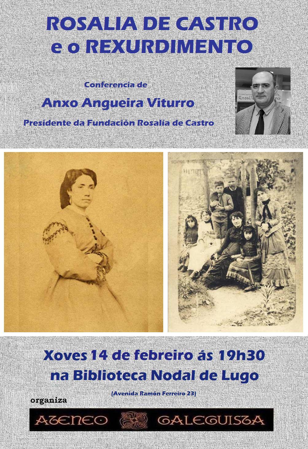 """Conferencia """"Rosalía de Castro e o rexurdimento"""""""