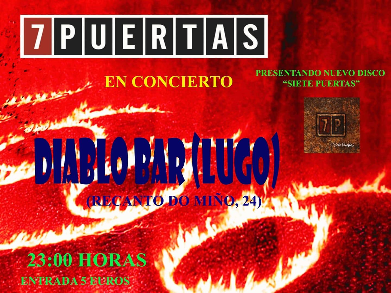 """Concierto de """"7 puertas"""" en El Diablo"""