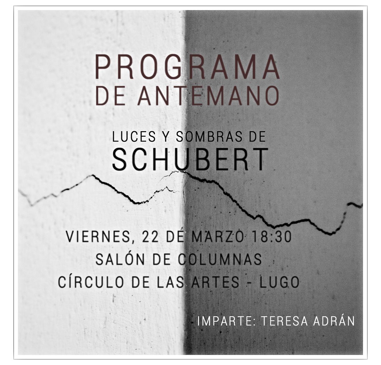 Programa de Antemano Schubert
