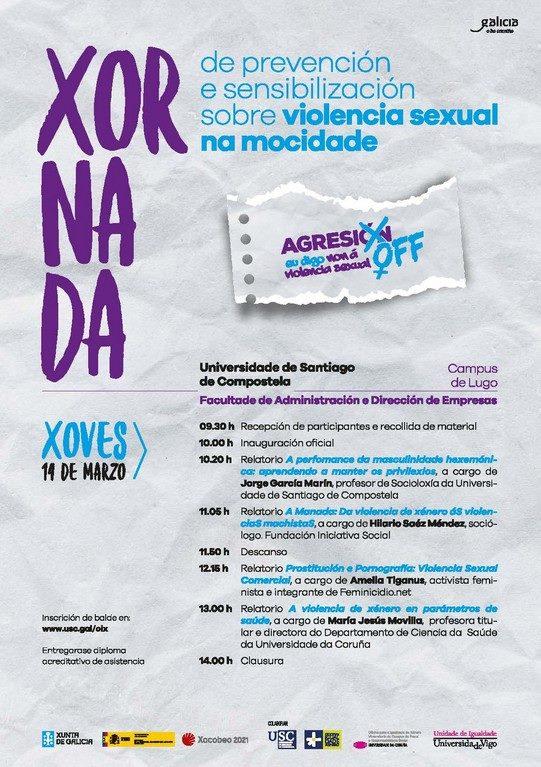 Xornada de prevención e sensibilización sobre violencia sexual na mocidade
