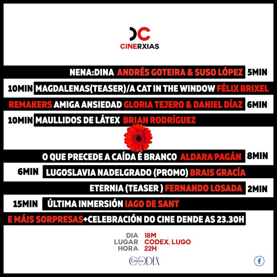 Sesión Cinerxias nos Codex Cinema de Lugo