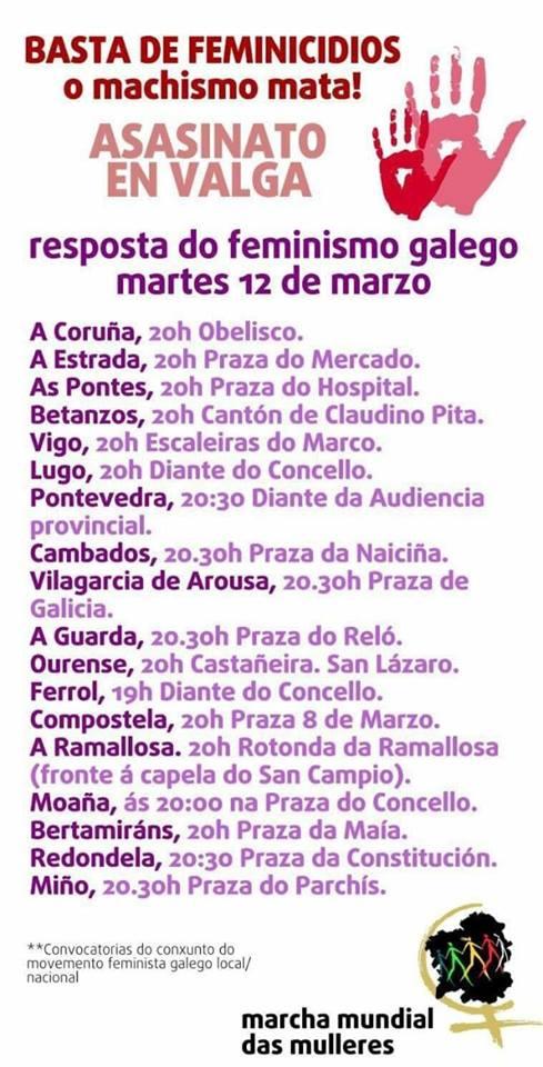 Concentración en Lugo polos tres asasinatos machistas