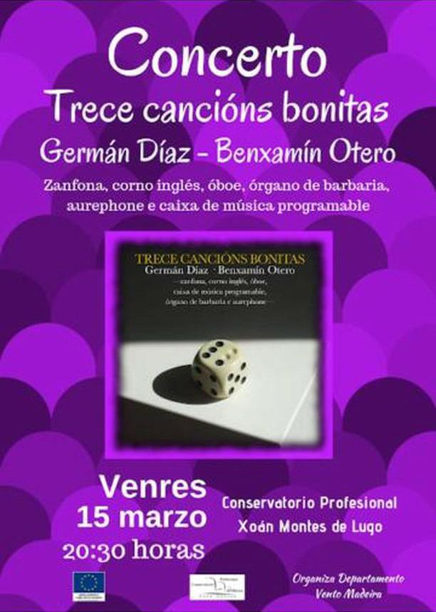 Concerto de Germán Díaz e Benxamín Otero