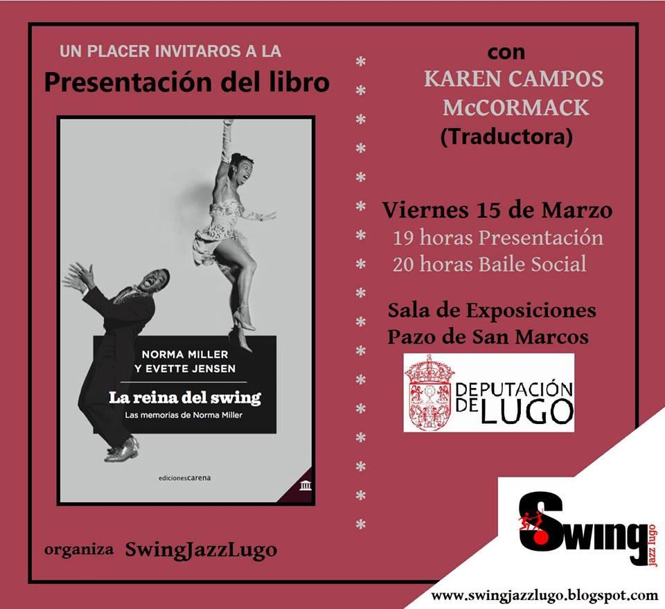 """Presentación del libro """"La reina del swing"""""""