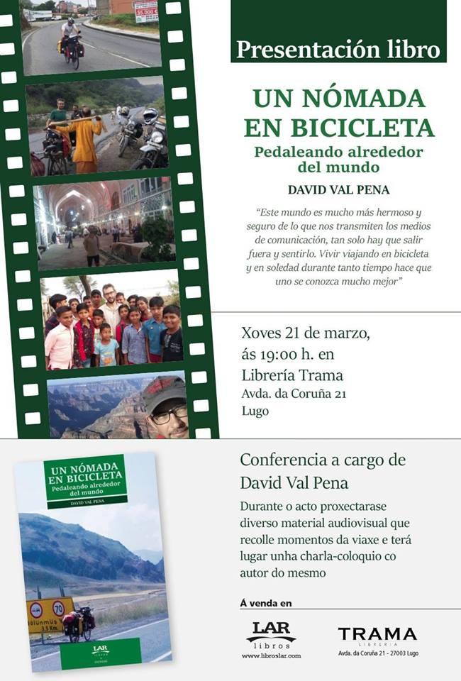 """Presentación do libro """"Un nómada en bicicleta"""""""