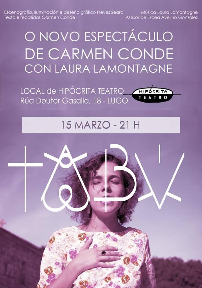Espectáculo: Tabú de Carmen Conde e Laura Lamontagne