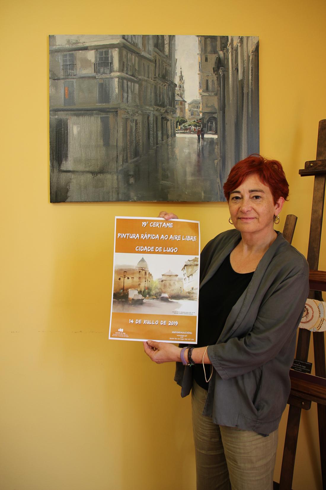 """A edil de Cultura, Maite Ferreiro, presentou a 19 edición do """"Certame de Pintura Rápida Cidade de Lugo"""""""