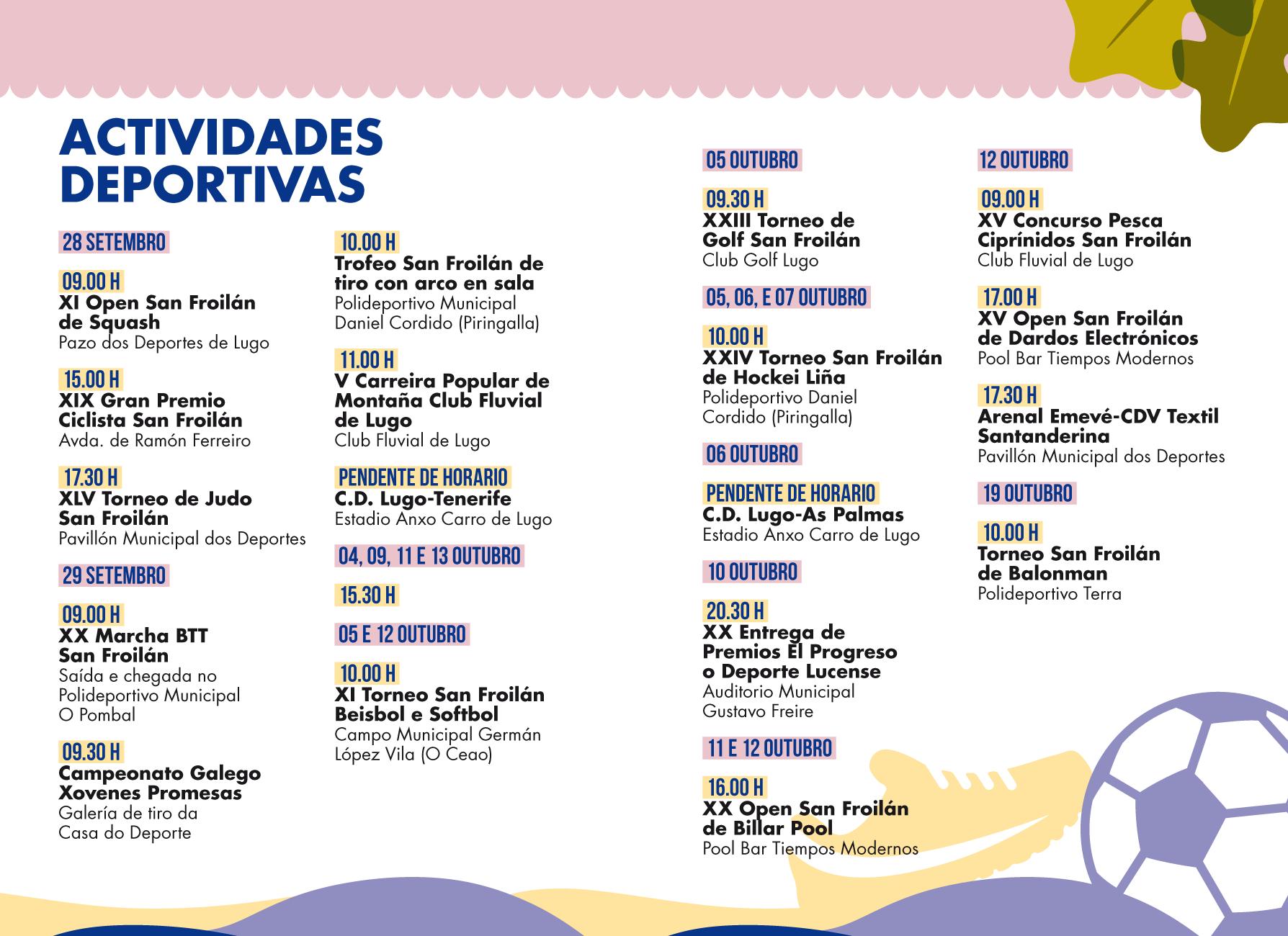 Programa San Froilán 2019