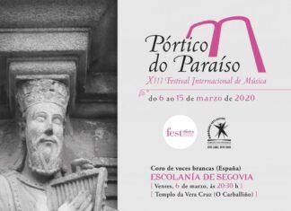 CARTEL FESTIVAL INTERNACIONAL DE MÚSICA PÓRTICO DO PARAISO