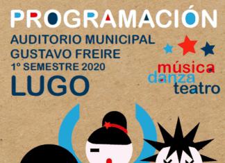 Cartel da programación teatral do Auditorio Municipal Gustavo Freire 2020
